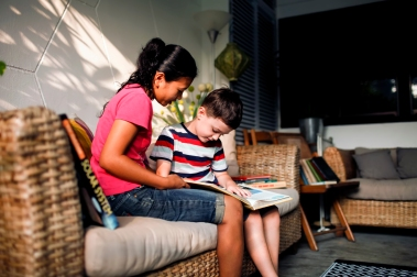 Ristanti and Charlie, her ex-employer's son, spend several hours a week reading books together. Charlie particularly enjoys books with maps and images of space.