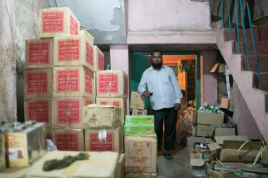 As the sole retailer at the Shologhar Bazaar, Samad is often kept busy throughout the day with orders and requests from clients. Household items are brought in from a wholesale manufacturer in Dhaka and distributed to local shops in the area.